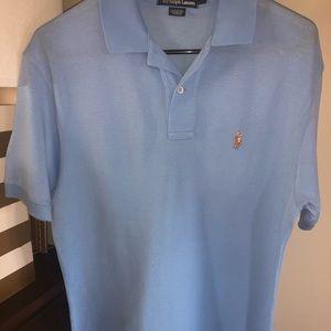 Men's Light Blue Polo